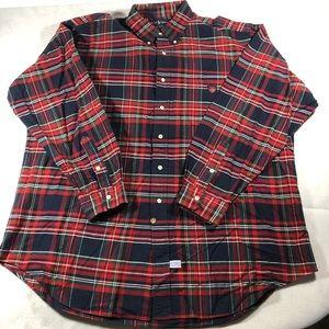 Polo Ralph Lauren Plaid Shirt 100% Cotton Men's L